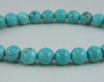 T151, Turquoise Dyed Howlite Bracelet
