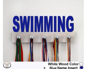 Swimming Medal Holder, Swimming Medal Display,Sport Gift,Swimming Gift,Swim,Swimming Medal Rack, Swimmer Medal Holder, Medal Hanger