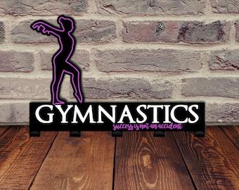 Gymnast Medal Holder / Hooks for Medals / Sports Medal Display / Gymnastics Gift for Girls