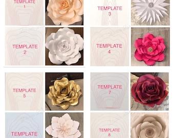 HARD COPY- Paper Flower Template (30.00 per template)