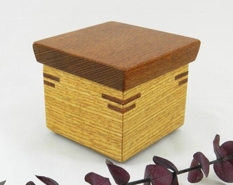 Jewelry Box, Wooden Box, Memory Box, Keepsake Box, Small Wooden Box, Ring Box, Key Box, Wood Box, Lidded Box