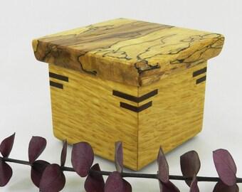 Jewelry Box, Wooden Box, Memory Box, Keepsake Box, Small Wooden Box, Ring Box, Key Box, Wood Box, Lidded Box