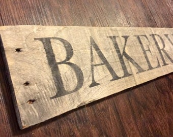 Bakery sign on reclaimed pallet wood- ready to ship