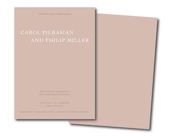 EXTREME MINIMALIST Wedding Invitation,Simple Wedding Invitation,dusty pink Affordable Invitation,modern Minimal Printable DIY save the date