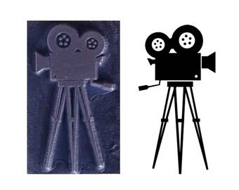 movie camera inspired printing stamp