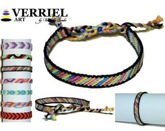 "Handmade bracelet made of 100% cotton ""Variety"""