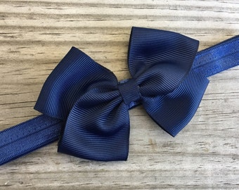 Navy Headband / Navy Bow /Baby Headband / Toddler Headband