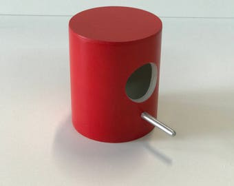 Red bird house for indoors and outdoors bird nestinB