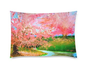 "Pillow Cover 20""x20"" +6 other sizes -Bubblegum Brook- FREE Shipping"