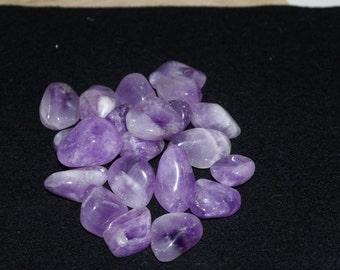 Amethyst Tumblestone Crystal Reiki Healing Chakra Spiritual