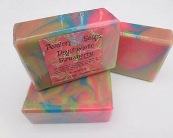 Psycadelic Strawberry Soap