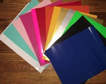 Siser easyweed heat transfer vinyl sheet HTV Iron on in Red Black Pink White Mint
