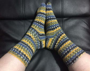 Boys hand knitted long socks made to order