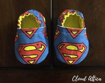 Soft Sole Baby Shoes Superman Emblem
