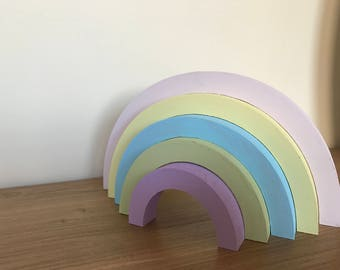 Beautiful freestanding stacking rainbow
