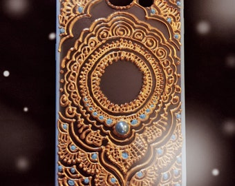 Blue Henna Phone Case  (Samsung S6)