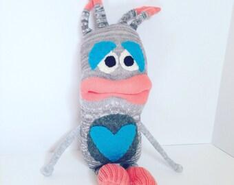 Sock Monster, Plush monster, Stuffed monster, Monster toy<