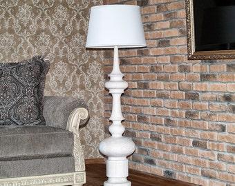 Floor Lamp Rustic Floor Lamp Wood Lamp Vintage Lamp Modern Floor Lamp Base Floor Lamp Shade Handmade