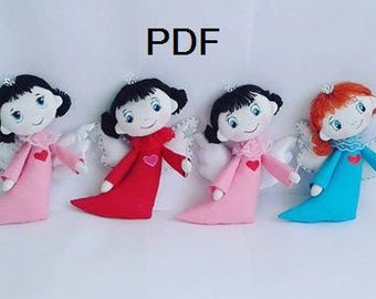 PDF Fairy angel doll pattern