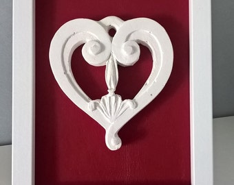 Decorative hanging heart picture Imperfect Love