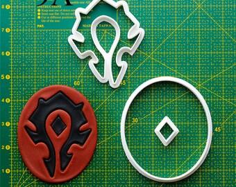 World Of Warcraft Fondant Cutter  world of warcraft decal,world of warcraft coaster,world of warcraft priest,world of warcraft baby