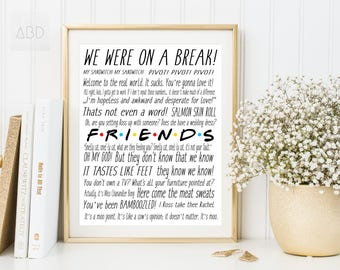 Friends tv show print, Friends tv show, F.R.I.E.N.D.S, central perk friends, central perk, Friends tv show gifts, friends quotes, DOWNLOAD