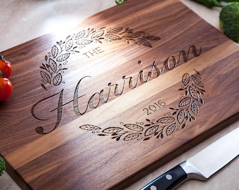 Personalized Cutting Board Custom Cutting Board Engraved Bridal Shower Gift Unique Gift Home decor Personalized Cutting Board Serving Board