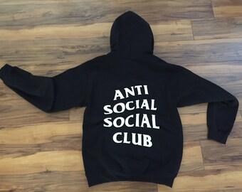Anti Social Social Club Hoodie (White-Print)
