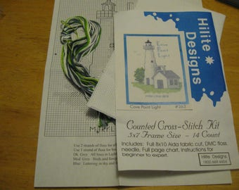 cove point light #263        Cross Stitch Kit by Hilite Designs free shipping in the u s a