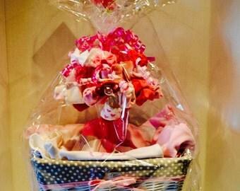 Baby Girl Gift Basket, Pick 5 items