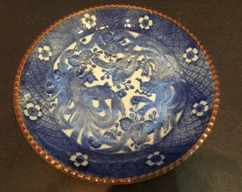 Yamatoku plate with pair of phoenixes