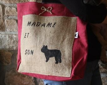 """Bag"" Lady and her Bulldog """