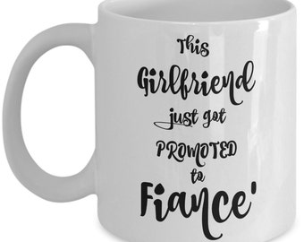 Bride to Be Mug | Newly Engaged | Fiance |Funny Coffee Mugs are Best Engagement Gifts for a Girlfriend Daughter Fiance Friend | 11 oz Cup