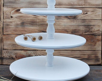 4 tiered wedding white wooden cake stand,large big white cake stand,rustic wedding cake stand,white 4 tiered cake pedestal