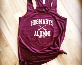 Harry Potter Hogwarts Alumni Flowy Racerback Tank Top - HP