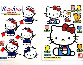 UK 2 Sheets Hello Kitty Waterproof Stickers Furniture Kitchen Bathroom Tile Glass Phone Laptop Removable Vinyl Decal