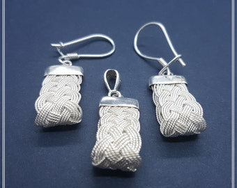 Silver Earring and Pendant