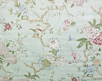 Lee Jofa Oriental Bird Linen Designer Fabric by the yard