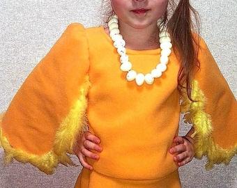 Chicken girl costume/ Easter kids costume/Kids chicken Costume/chicken dress up/handmade costume