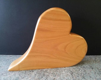 My heart is yours... Beautiful heart made of cherry wood ❤❤❤