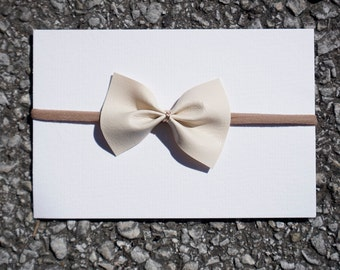 Leather Bow with Gold Wire