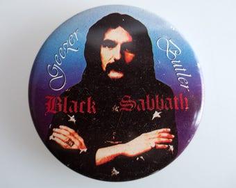 "Geezer Butler - Black Sabbath - 2.5"" Pin Back Button Badge"