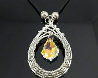 HANDMADE Swarovski Wire Wrapped Necklace