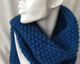 Blue Winter Hand Knitted Scarf