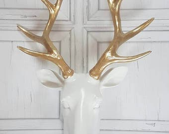 Stag head, faux taxidermy head, deer head