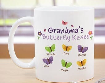 Personalized Butterfly Kisses Mug Custom Name Gift
