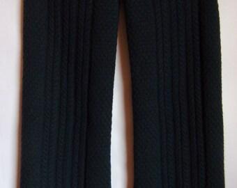 Vintage Men's Scarf/ Dark Blue Extra Long Scarf/BRAND STOCKH LM Shawl/Knitted Warm Shawl/ Autumn Winter Elegant Scarf