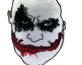 Joker Face Embroidered Patch