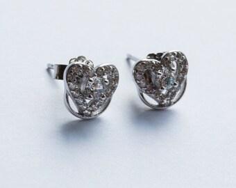 Pretty Heart Earrings - Sterling Silver