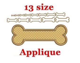 Dog Bone Applique Design. Dog Bone Embroidery. Bone Applique Machine Embroidery Design. Pet Bone Applique. Pet Embroidery Design.